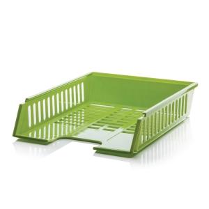 Bordázott irattálca A4+ zöld
