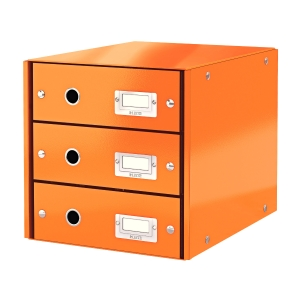 Leitz Click&Store 3-fiókos irattároló, narancssárga