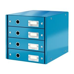 Leitz Click&Store 4-fiókos irattároló, kék