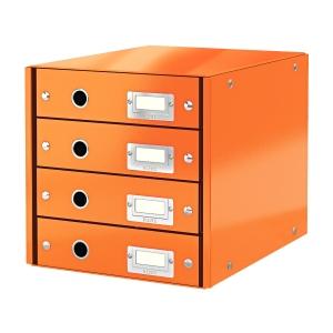 Leitz Click&Store 4-fiókos irattároló, narancssárga