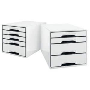 LEITZ B&W BOX 5-DRAWER UNIT WHITE