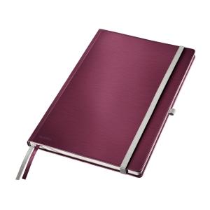 Leitz STYLE A4 jegyzetfüzet, keményfedeles, vonalas, gránát piros