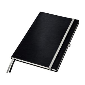 Leitz STYLE A4 jegyzetfüzet, keményfedeles, vonalas, szatén fekete
