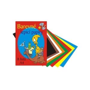 Színes öntapadós papír, A4, 8 ív/csomag, vegyes szín
