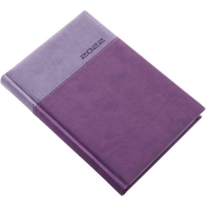 LUX A5 DAILY DIARY 14.5X20.5CM, purple, 1 pc