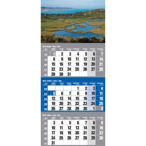 3MONTH WALL CALENDAR HUNGARY 30X48