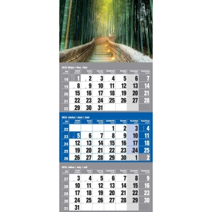 3MONTH WALL CALENDAR MEDITATION 30X48