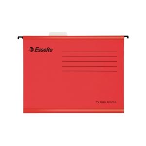 Esselte Classic függőmappák, A4-es dokumentumokhoz, szín: piros, 25 darab/csomag
