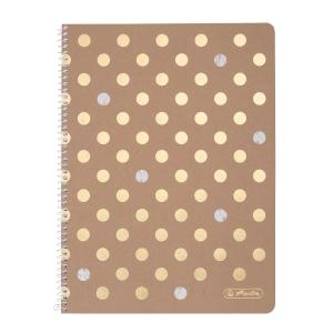 Herlitz Pure Glam A4-es jegyzetfüzet, négyzethálós, 80 lap