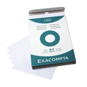 Exacompta A5-ös kartotéklapok, vonalas