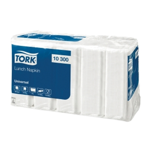 Tork 10300 fehér szalvéták, 1-rétegű, 33 x 33cm, 500 darab/csomag