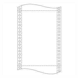 Papír tűs nyomtatókba, 54 g/m², 1 + 2 réteg, 240 mm x 12 , 750 ív/karton