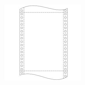 Papír tűs nyomtatókba, 54+52+54 g/m², 1+2 réteg, 250 mm x 12 , 750 ív/karton