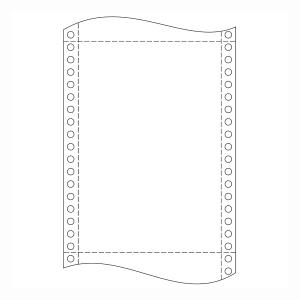 Papír tűs nyomtatókba, 54+52+52+54 g/m², 1+3 réteg, 250 mm x 12 , 500 ív/karton