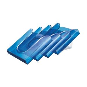 Leitz prospektustartó állvány, szett - kék, 4 állvány és adapter