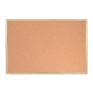 CORK NOTECIBOARD WOOD FRAME 60X90
