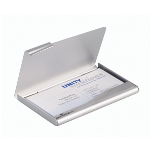 Durable személyi névjegykártyatartó, egyszerű, ezüst