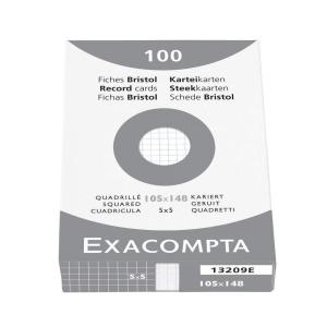 Exacompta lapok kartotékdobozokba, A6-os, négyzethálós