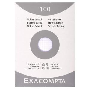 Exacompta lapok kartotékdobozokba, A5-ös, négyzethálós