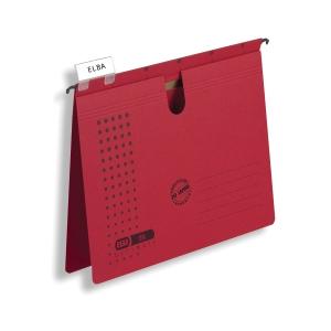 Elba  A  típusú függőmappa, piros, 25 darab/csomag