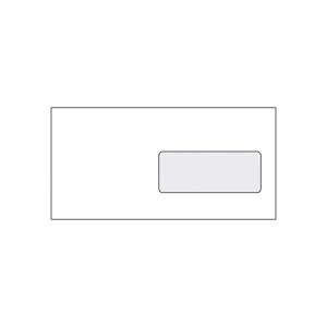 Szilikonos borítékok LA/4 (110 x 220 mm), jobb ablak, fehér, 50 darab/csomag
