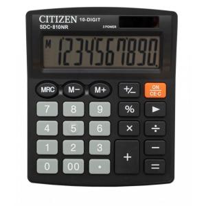 CITIZEN SDC810BN asztali számológép, fekete, 10 számjegy