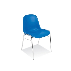 BETA CONFERENCE CHAIR CHROME BLUE