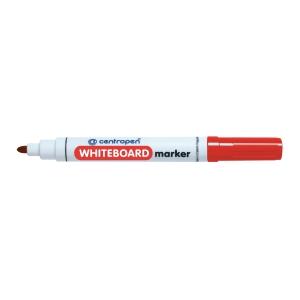 Centropen 8559 marker fehértáblához, gömbölyű hegy, piros