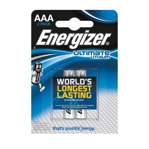 PK2ENERGIZER ULTIMATELITHIUM BAT AAA/LR3 ENERGIZER