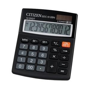 CITIZEN SDC812BN asztali számológép, fekete, 12 számjegy