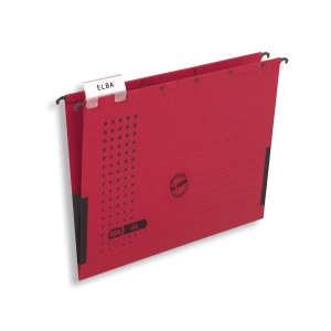 Elba függőmappa  V  típus oldalt zárt piros, 25 darab/csomag