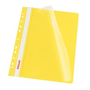 Esselte függő panorámás gyorsfűző, sárga, 10 darab/csomag