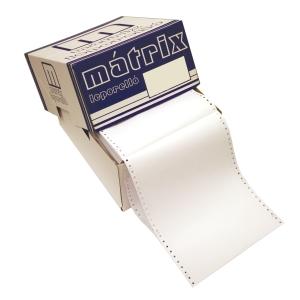 Papír tűs nyomtatókba, 54 + 54 g/m², 1 + 1 réteg, 240 mm x 12 , 900 ív/karton