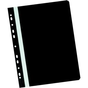 Herlitz függő panorámás gyorsfűző, fekete, 20 darab/csomag