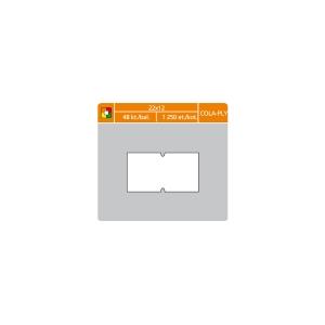 S&K Label árcímkék 22 x 12 mm, cola-ply, fehér, 1250 címke/tek, 48 tekercs/csom