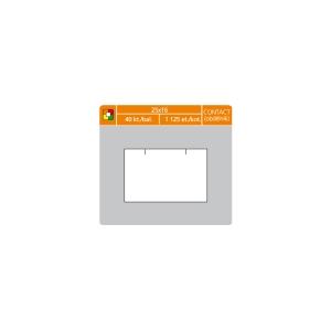 S&K Label árcímkék 25 x 16 mm, contact, fehér, 1125 címke/tekercs, 40 tek/csom
