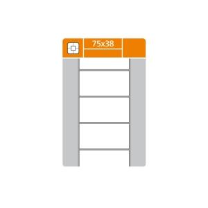 S&K Label termotranszfer címkék, 75 x 38 mm, 2 000 etikett/tekercs