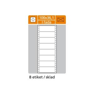 S&K Label 1-soros mátrixnyomtató etikettek, 100 x 36,1 mm, 200 etikett/csomag