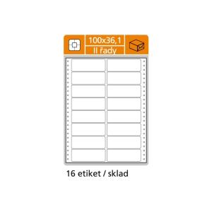 S&K Label 2-soros mátrixnyomtató etikettek, 100 x 36,1 mm, 400 etikett/csomag