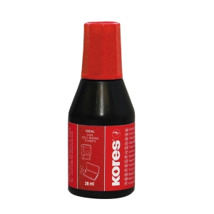 KORES 71028 STAMP PAD INK 27ML RED