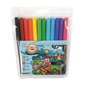 Koh-i-noor filctollak, vegyes színek, 12 db/csomag