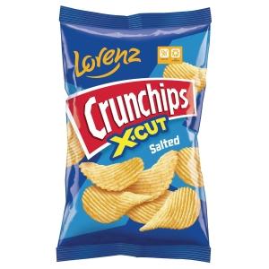 Lorenz Crunchips X-Cut sós burgonyaszirom 85 g