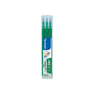 Pilot Frixion pót tollbetét, zöld, a hegy átméroje: 0,7 mm, 3 darab/csomag