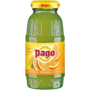 PK24 PAGO ORANGE JUICE GLASS BOTTLE 0.2L