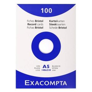 Exacompta lapok kartotékdobozokba, A5-ös, tiszta
