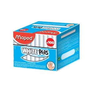 Maped iskolai kréták, fehér, 100 db/csomag