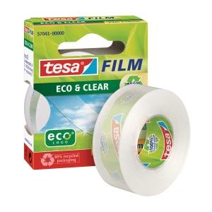 Tesa Eco&Clear kristálytiszta ragasztószalag, 19 mm x 33 m
