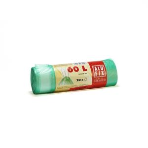 Szemeteszsák, zárószalagos, 60l, 20 zsák/tekercs, zöld