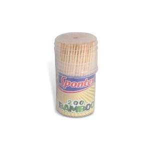 Spontex bambusz fogpiszkálók, 200 darab/csomag