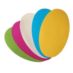 Nobo ovális moderációs kártyák 11 x 19cm, 5 színben, 250 darab/csomag